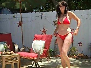 Old Milf Trys On Many Bikinis In Her Garden Free Porn C8
