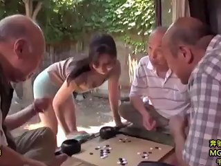 Frustrated Bride And Old People