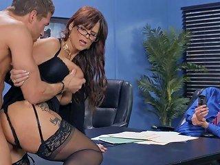 Lewd Horny Milf Syren De Mer Hot Office Sex Video