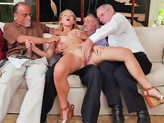 Casting French Blonde Mature XXX Frannkie And The Gang Tag Team A Door To