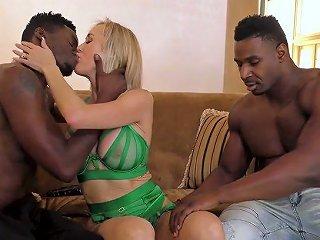 Super Juggy MILF Brandi Love Goes Wild With Two Black Dudes Living Nextdoor