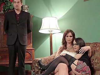 Butler Anal Bangs Mom And Teen In Bondage Txxx Com