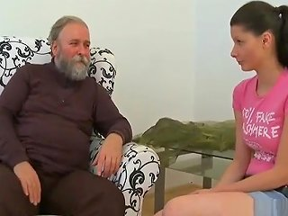 Young Pussy Of A Teen Girl Slammed By Old Experienced Cock